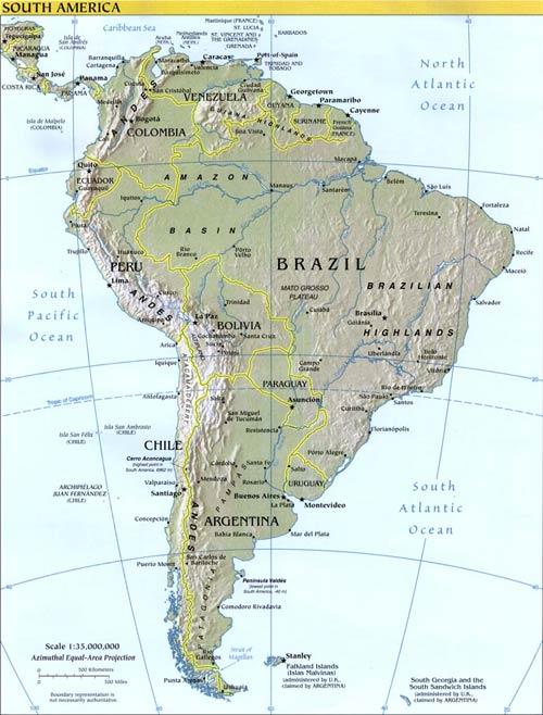 Saurian Enterprises, Inc :: South American Map